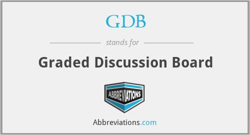 GDB - Graded Discussion Board