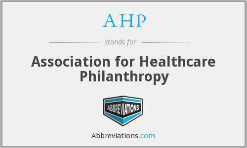 AHP - Association for Healthcare Philanthropy