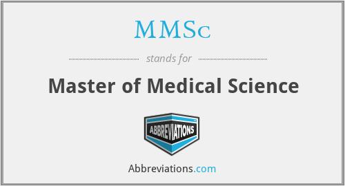 MMSc - Master of Medical Science