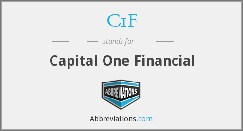 C1F - Capital One Financial