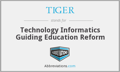 TIGER - Technology Informatics Guiding Education Reform