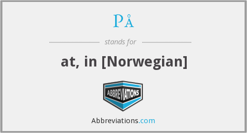 På - at, in [Norwegian]