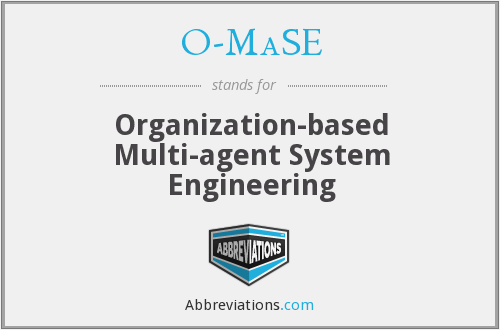 O-MaSE - Organization-based Multi-agent System Engineering