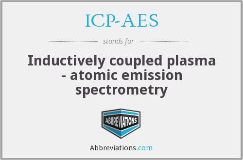 ICP-AES - Inductively coupled plasma - atomic emission spectrometry