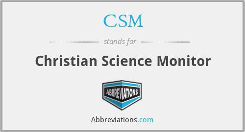 CSM - Christian Science Monitor