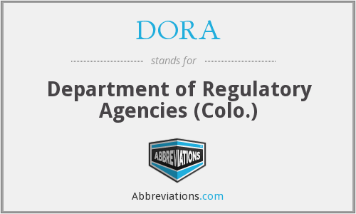 DORA - Department of Regulatory Agencies (Colo.)