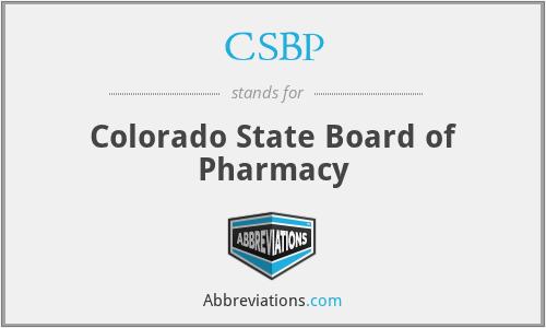 CSBP - Colorado State Board of Pharmacy
