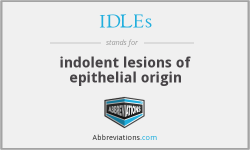 What does IDLES stand for?