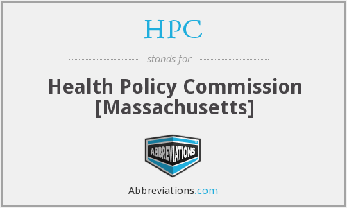 HPC - Health Policy Commission [Massachusetts]