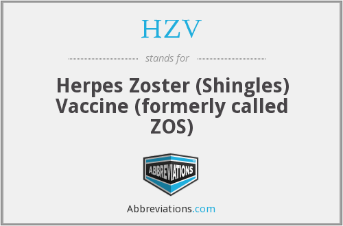 HZV - Herpes Zoster (Shingles) Vaccine (formerly called ZOS)
