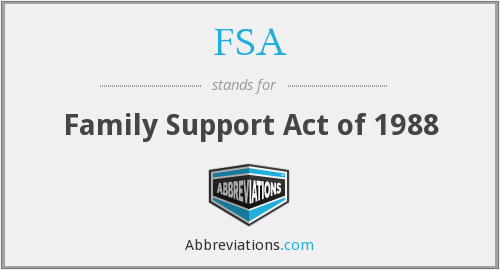 FSA - Family Support Act of 1988