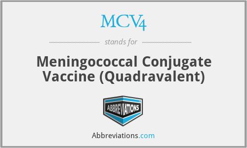 MCV4 - Meningococcal Conjugate Vaccine (Quadravalent)
