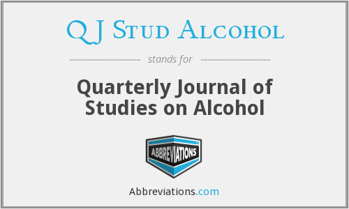 Q J Stud Alcohol - Quarterly Journal of Studies on Alcohol