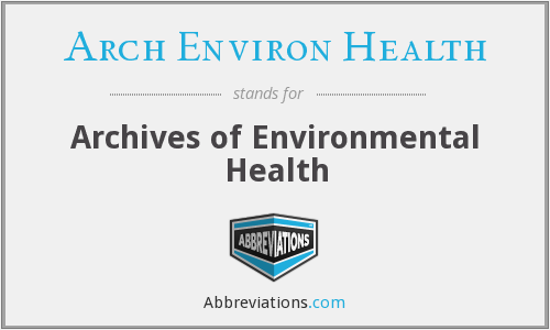 What does ARCH ENVIRON HEALTH stand for?