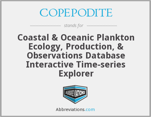 What does COPEPODITE stand for?