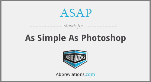 ASAP - As Simple As Photoshop