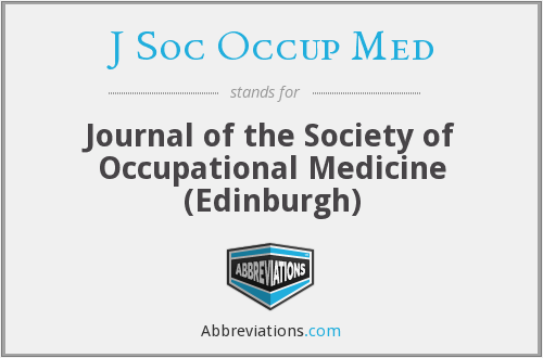 J Soc Occup Med - Journal of the Society of Occupational Medicine (Edinburgh)