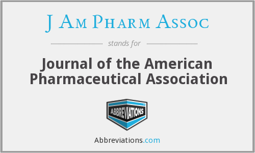 What does J AM PHARM ASSOC stand for?