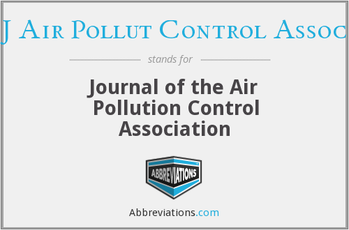 What does J AIR POLLUT CONTROL ASSOC stand for?