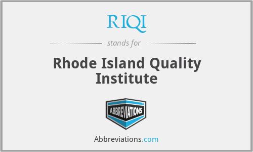 RIQI - Rhode Island Quality Institute