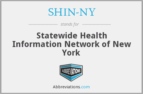 What does SHIN-NY stand for?