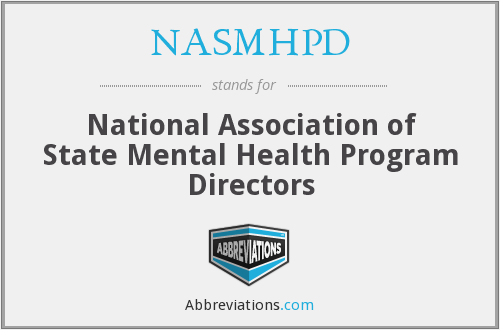What does NASMHPD stand for?