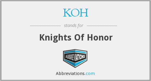 KOH - Knights Of Honor