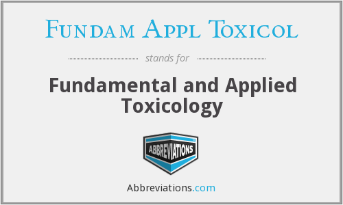 What does FUNDAM APPL TOXICOL stand for?