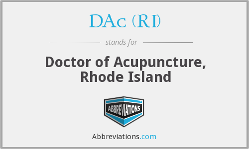 What does DAC (RI) stand for?