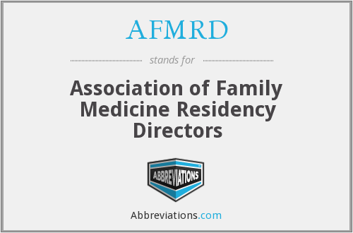 What does AFMRD stand for?