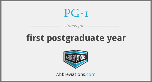 What does PG-1 stand for?