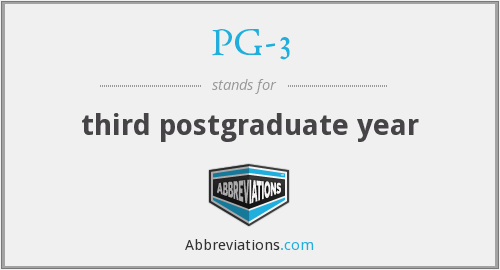 PG-3 - third postgraduate year