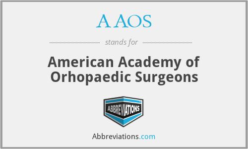 AAOS - American Academy of Orhopaedic Surgeons