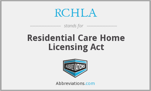 What does RCHLA stand for?