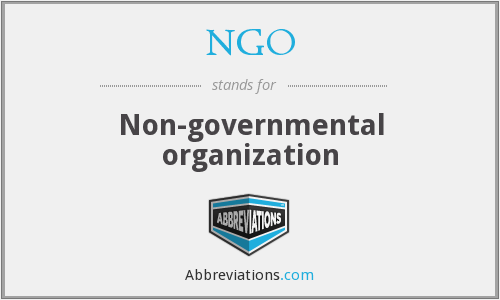NGO - Non-governmental organization