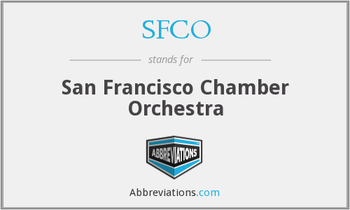 What does SFCO stand for?