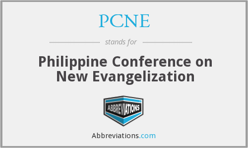PCNE - Philippine Conference on New Evangelization