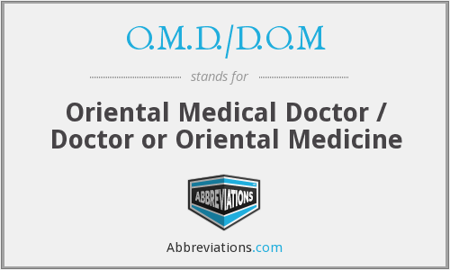 What does O.M.D./D.O.M stand for?