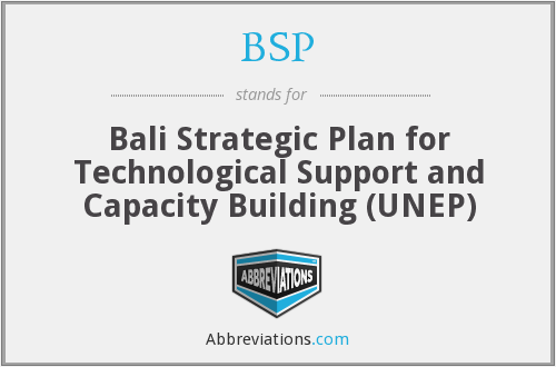 BSP - Bali Strategic Plan for Technological Support and Capacity Building (UNEP)