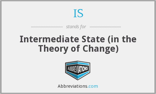 IS - Intermediate State (in the Theory of Change)