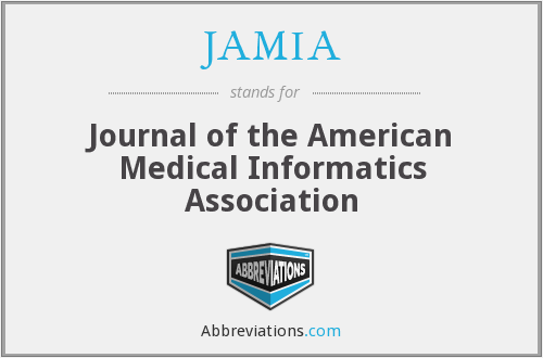 JAMIA - Journal of the American Medical Informatics Association