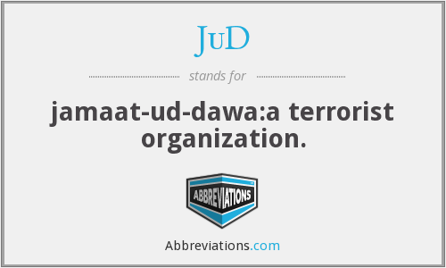 What does JUD stand for?