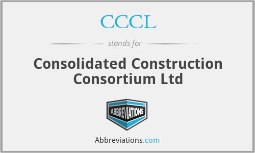 CCCL - Consolidated Construction Consortium Ltd