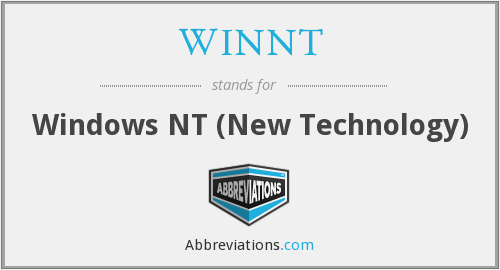 What does WINNT stand for?