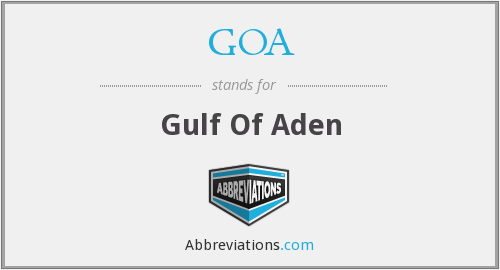 GOA - Gulf Of Aden