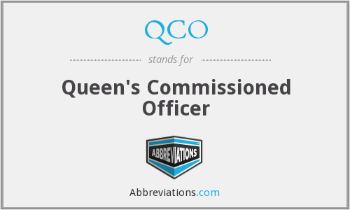 QCO - Queen's Commissioned Officer