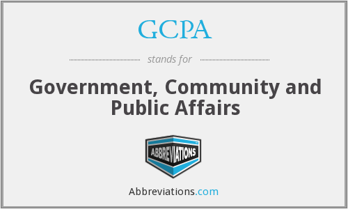 GCPA - Government, Community and Public Affairs