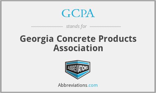 GCPA - Georgia Concrete Products Association