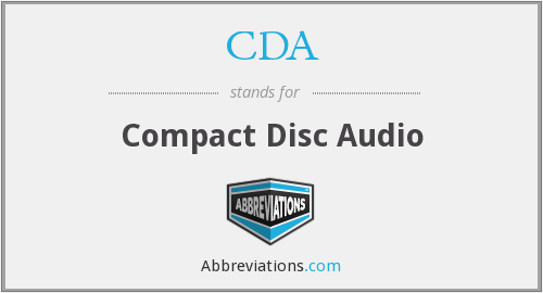 CDA - Compact Disc Audio