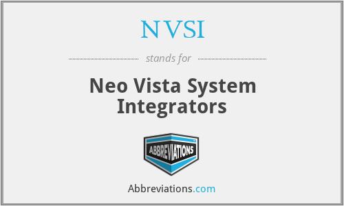 NVSI - Neo Vista System Integrators